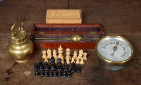 A 19th century cased Saccharometer by Buss of London, 25cm in length in a fitted mahogany box