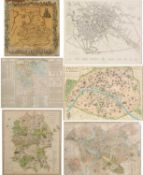 A hand coloured 19th century map of ancient Greece engraved by Neele of The Strand, 38cm x 39cm,