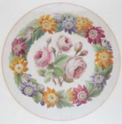 An early 20th century floral watercolour framed and glazed overall 53.5cm x 49cmCondition report: