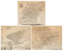 Three mid 19th century maps, New York, Moscow and St. Petersberg, each 32cm x 37cmQty: 3Condition
