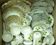 A Villeroy & Boch Jamaica pattern part teaset with six cups, six saucers, two further saucers for