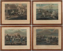 A set of four steeple chase prints after originals drawn by H.Alken and engraved by J Harris, each