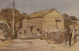 Tom Oldham (21st Century English School) 'Barn near Gaisgill', watercolour, signed lower left,