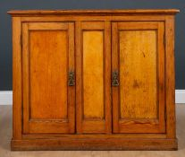 A pine side cabinet 105cm wide x 34cm deep x 87cm highCondition report: At present, there is no