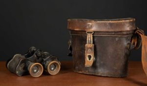 A pair of early 20th century Carl Zeiss Dienstgias D.F.6x24 Third Reich binoculars marked with a