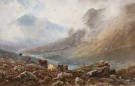 W Harford Two Highland landscapes, watercolours, each signed lower left, 33cm x 52cm together with a