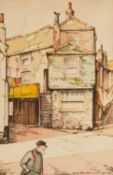 W.D.Angier The Sloop Inn and Fish Street, St Ives, Cornwall, watercolour, signed lower right, 37cm x
