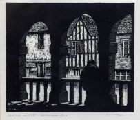 Sydney Thomas Ch. Weeks (1878-1945) Chipping Campden, monochrome woodblock, signed in pencil, 17.5cm