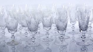 Suite of Edinburgh crystal glassware including wine, sherry, liqueur, tumblers and othersCondition