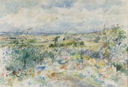 Arthur Henderson Hall (1906-1983) 'Dorset roadside' watercolour, signed in pencil lower right,