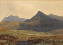 19th Century English School two untitled watercolours, one of livestock in a landscape, unsigned,