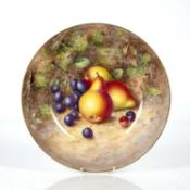 Royal Worcester cabinet plate decorated with still life of fruit, signed Freeman, printed mark to