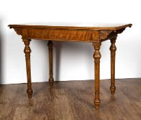 Maple side table with frieze drawer, late 19th Century, unmarked, 107cm wide x 71cm high x 50cm