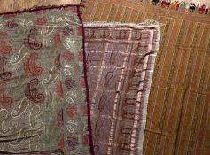 Kashmir type large shawl 320cm x 145cm approx and two silk shawls (3)Condition report: At present,