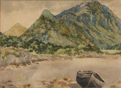 Attributed to Alice Sarah Kinkead (1871-1926) 'Untitled landscape' watercolour, unsigned, 27cm x