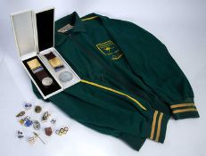 Collection of Tokyo 1964 Olympic memorabilia to include an Australian green jacket, various eventing
