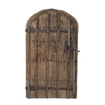 Gothic arched oak door Medieval period, probably 14th/15th Century, of planked form with original