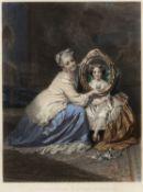 After Philipp Hermann Eichens (1804-1886) coloured engraving 'Le Portrait Parlant', A Speaking