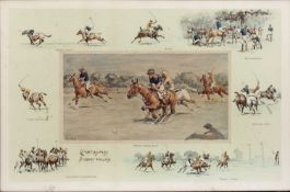 Charles Johnson Payne (1884-1967) Carpet Beaters v Bobbery Wallahs, coloured print, signed in pencil