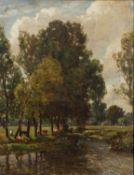 Sir Herbert Edwin Pelham Hughes-Stanton (1870-1937) 'Batworthy looking on to Dartmoor', oil on