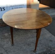 Oak pad foot gateleg dining table 19th Century, of oval form with gateleg supports, 124cm x 131cm