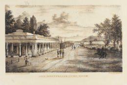 Attributed to Henry Lamb (1834-1861) 'Montpellier Pump Room, Cheltenham' engraving, 27cm x 41cm, '