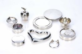 Tiffany & Co collection of silver ware consisting of: Elsa Peretti (1940-2021) silver baby's
