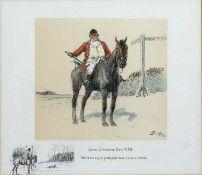 Charles Johnson Payne (1884-1967) 'John Jorrocks Esq. M.F.H', photolithograph, signed in pencil '