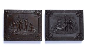 Union case The capture of major Andr, quarter plate thermoplastic case, made by Samuel Peck & Co
