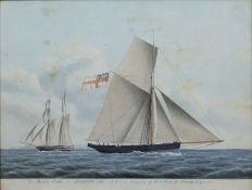 Jacob Peterson (1774-1884/5) 'The Therese Cutter and Royalist Sch : RY.S in Company off the Naze