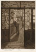 Rachel Anne Le Bas (b.1923) 'The Old Tobacco and Snuff Shop, Haymarket' etching, numbered 31/75,