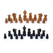 Ebony and boxwood chess set largest piece 9cmCondition report: At present, there is no condition