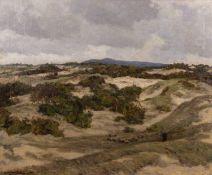 Herbert Edwin Pelham Hughes-Stanton (1870-1937) 'landscape with shepherd' oil on canvas, signed