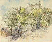 Bernard Philip Batchelor (1924-2012) 'Local Gossip near Souillac' watercolour, signed and dated 1994