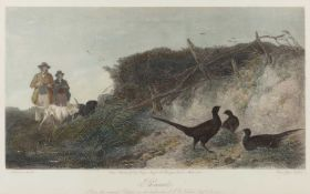 David George Thompson after Richard Ansdell (1815-1885) two game hunting engravings, 36cm x 59cm (