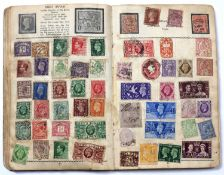 A Pioneer Stamp Album containing a collection of world stamps. First half of 20th century