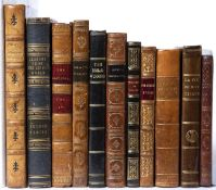 A group of eleven small format Antiquarian titles all with decorative leather bindings; Cowper,