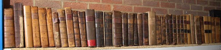 18th/19th century Law Reports. 71 Vols. All full calf but in much used condition and s.a.f. (71)