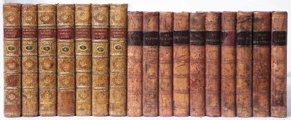 Scott (Sir Walter) Scottish Writer (1771-1832). Works thereof. 10 Vols. Small format (169 x 110mm) A