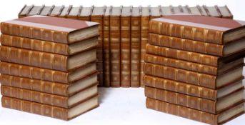Stevenson (Robert Louis) (1850-1894) Works thereof. 34 Vols. Various publishers c1900. 1/2 calf