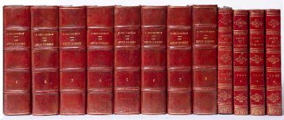Decourcelle (Pierre) 'Les Deux Gosses'. 8 Vols. Jules Rouff, Paris. n/d. c1880. Red morocco banded