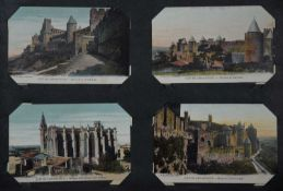 An album containing a large collection of British and Continental postcards of varying date 1950's