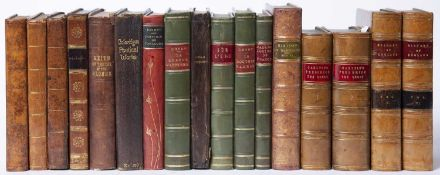 A group of seventeen 19th century and later Antiquarian bindings mostly leather bound, school prizes