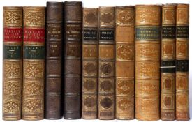 A group of ten 19th century Antiquarian bindings, six titles including Miley (Rev. John) 'The