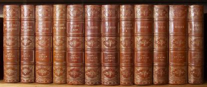 Bulwer-Lytton (The Right Hon Lord Edward) (1803-1873) The Works thereof in 12 volumes. G.J.