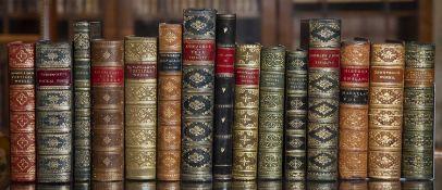 A group of fifteen Antiquarian and Poetry fine bindings including Longfellow, Coleridge, Wordsworth,