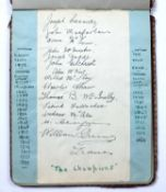 An early 20th century autograph book containing an eclectic range of signatures incl:- Harry Lauder,