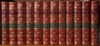 Thackeray (William Makepeace) (1811-1863) British Novelist. The Works thereof. 12 Vols. Smith Elder,
