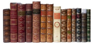 A collection of 14 Antiquarian fine bindings, School Prizes etc., including Scott, Longfellow,