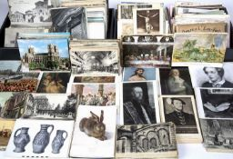 An extensive collection of British and Continental post-war postcards in excess of five hundred,